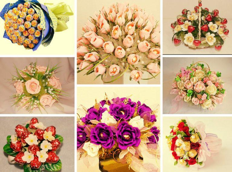 цветы из конфет своими руками пошаговое фото могут быть