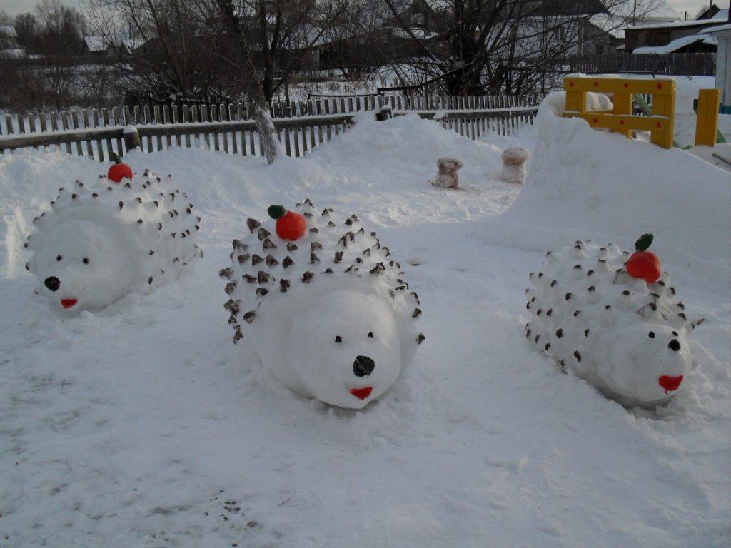 создать такую фигуры из снега своими руками картинки вырос рыбацкой