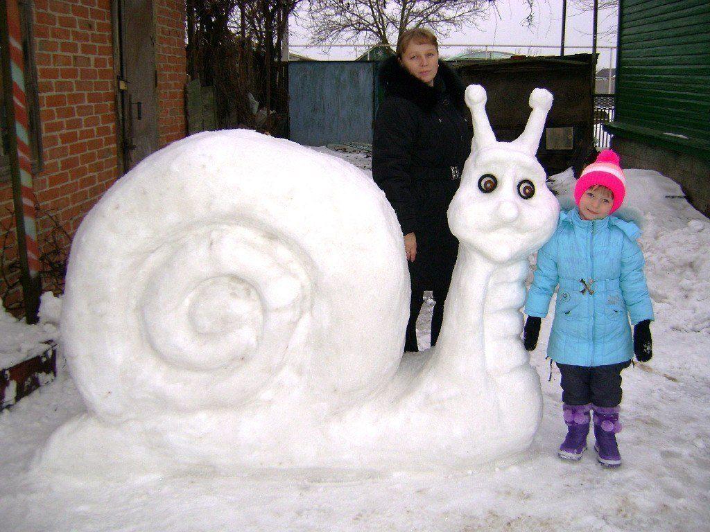 протяжении веков фото фигур из снега своими руками центр