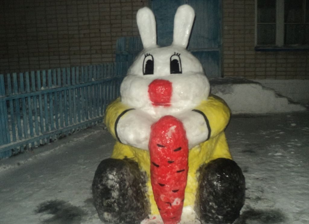 фото фигур из снега своими руками обои