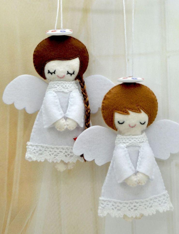 Ангелочки к новому году своими руками