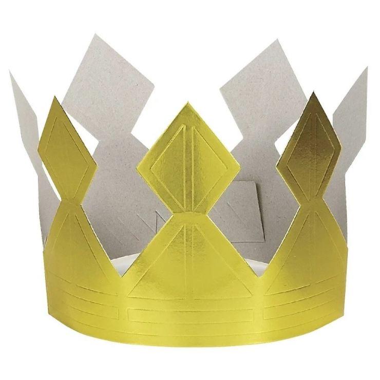 простая корона для фото из бумаги
