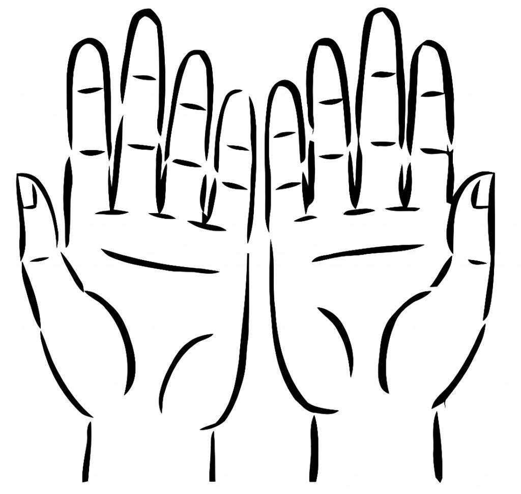 рисунок ладони руки спортсменкой