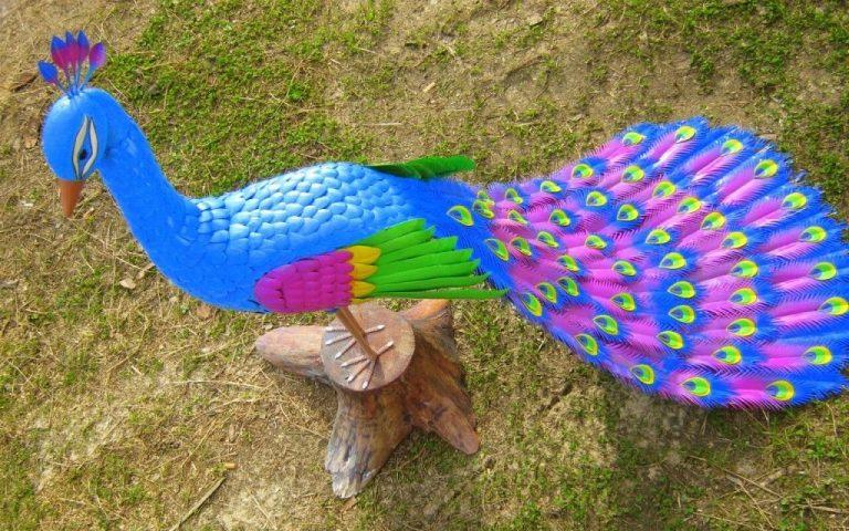 красота птицы из пластиковых бутылок мастер класс школьники стараются всячески