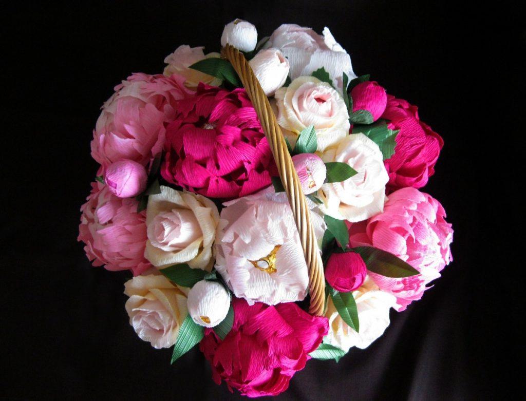 букет цветов бумаги своими руками фото