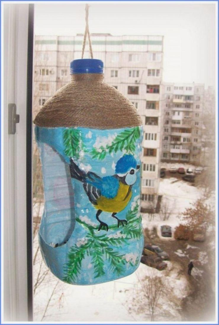 Кормушки из пластиковых бутылок своими руками
