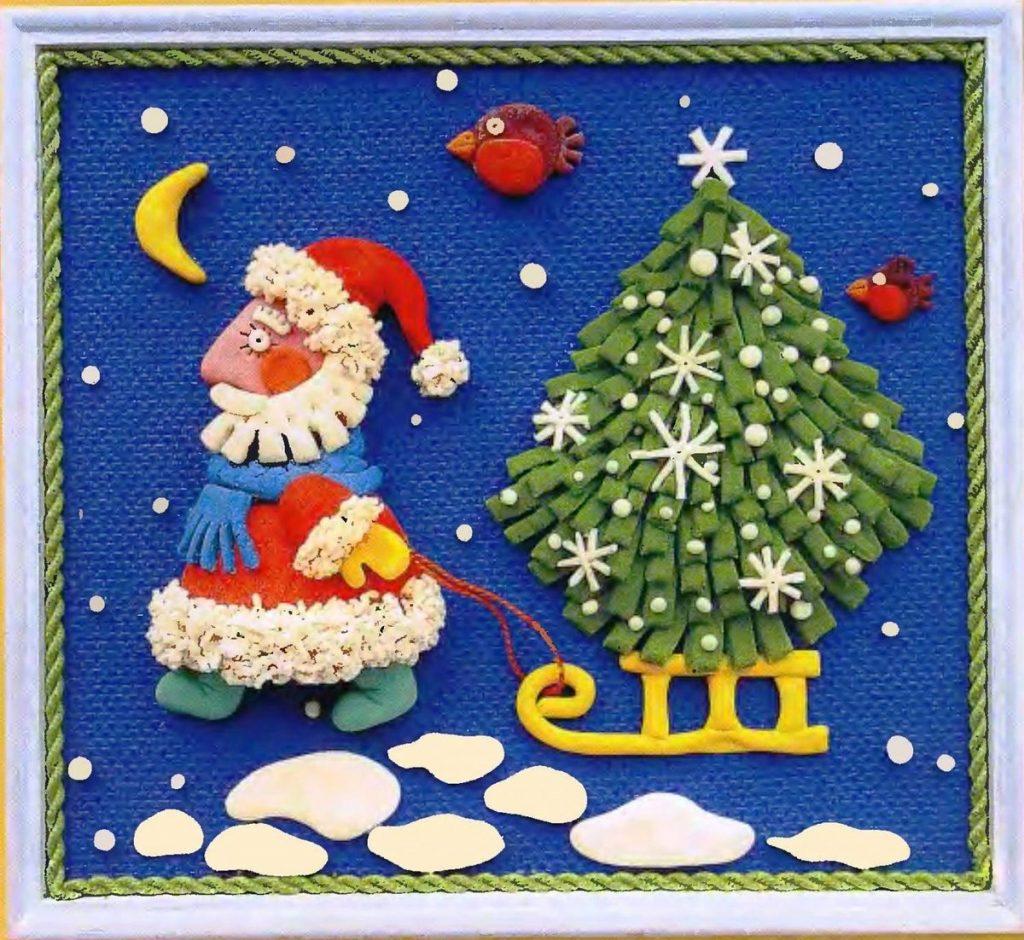 Новогодняя открытка в садик фото