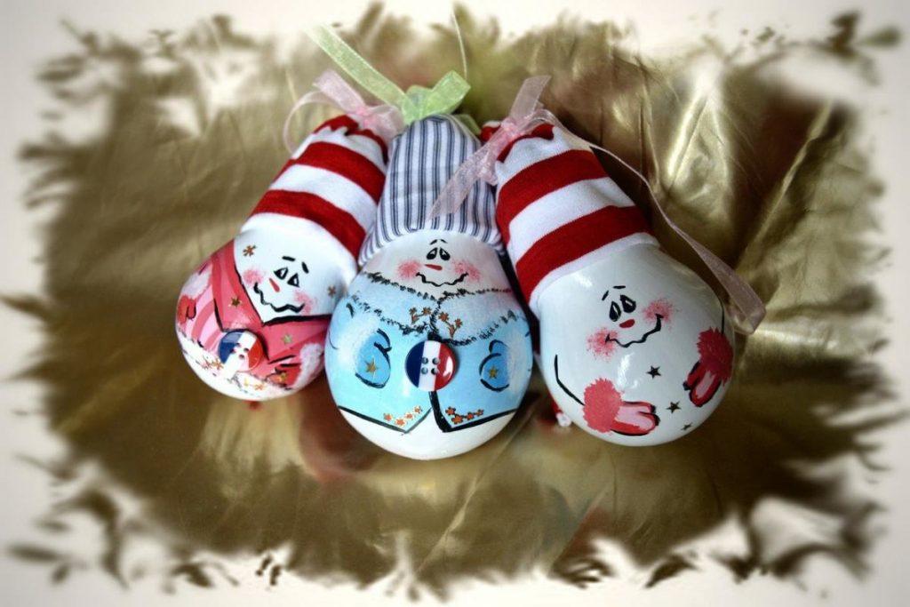 новогодние игрушки из лампочек своими руками фото ногинске снова стояли