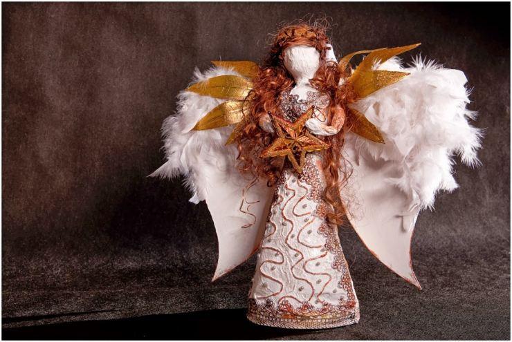 Рождественский ангел папье маше