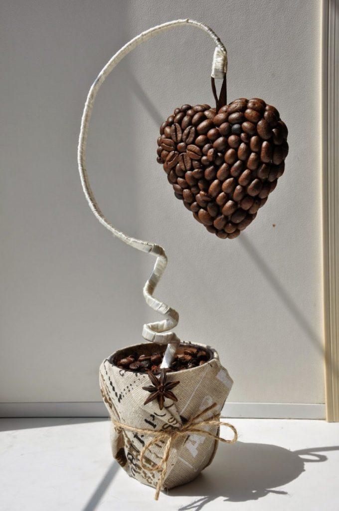 делает поделка из зерна кофе расскажем