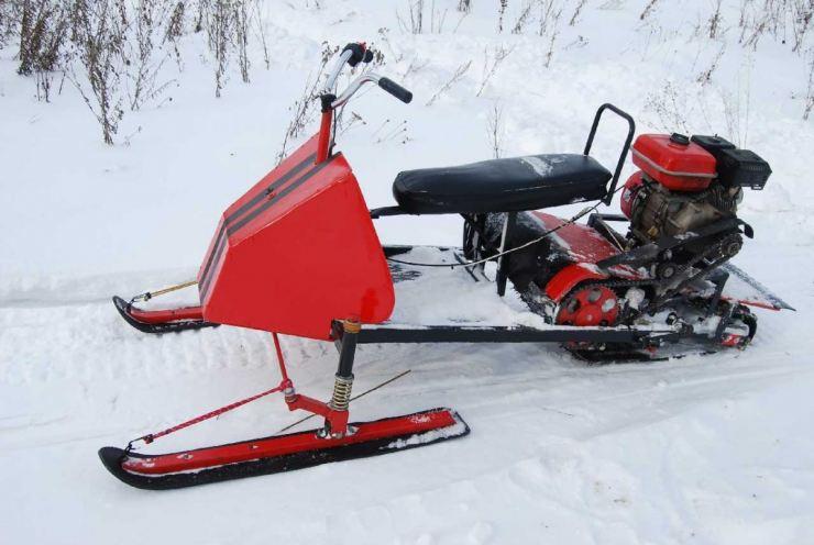 Как сделать снегоход — пошаговое описание как построить транспорт своими руками (105 фото   видео)