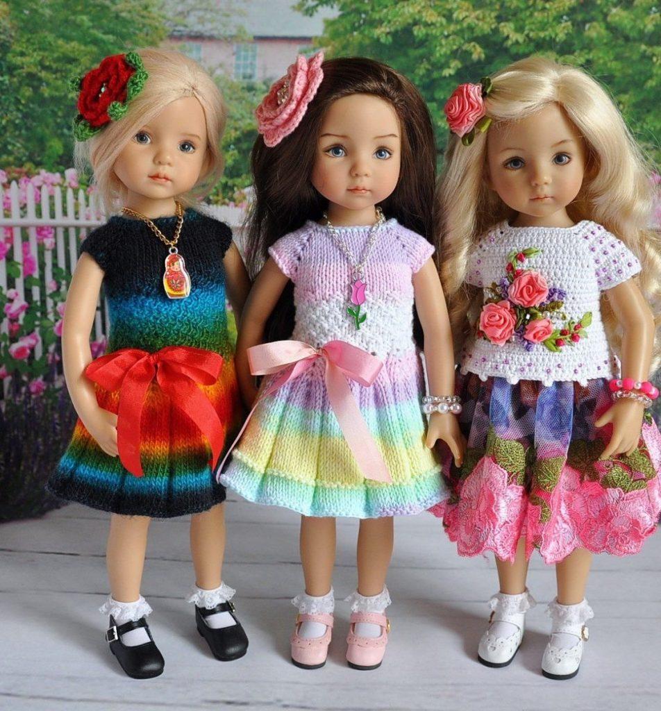 картинки разных платьев для кукол часто